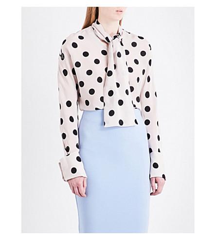 NATASHA ZINKO Polka dot-print silk blouse (Cream