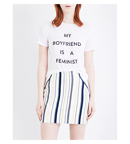 PRABAL GURUNG My boyfriend is a feminist jersey T-shirt (White