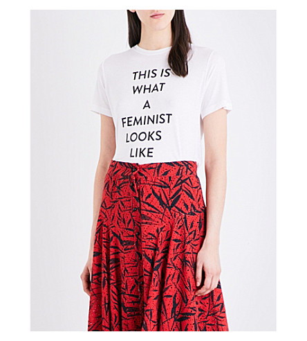 PRABAL GURUNG This Is What A Feminist Looks Like jersey T-shirt (White