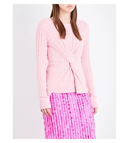 SIES MARJAN Zoe twist cotton jumper (Pink+panther