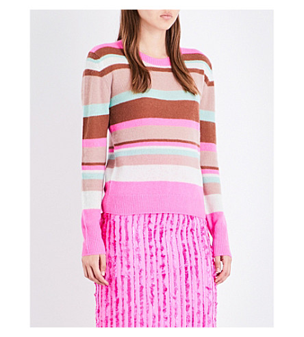 SIES MARJAN Striped cashmere jumper (Barbie