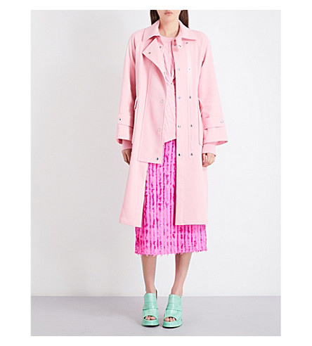 SIES MARJAN Alison twill trench coat (Pink+panther