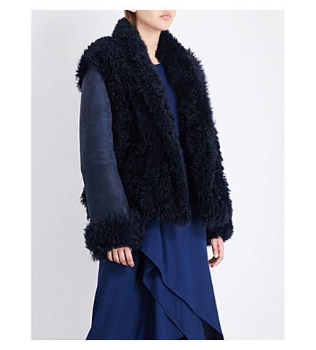 SIES MARJAN Teri shearling jacket (Navy