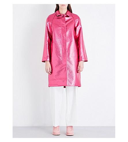 SIES MARJAN Metallic wool-blend coat (Cherry