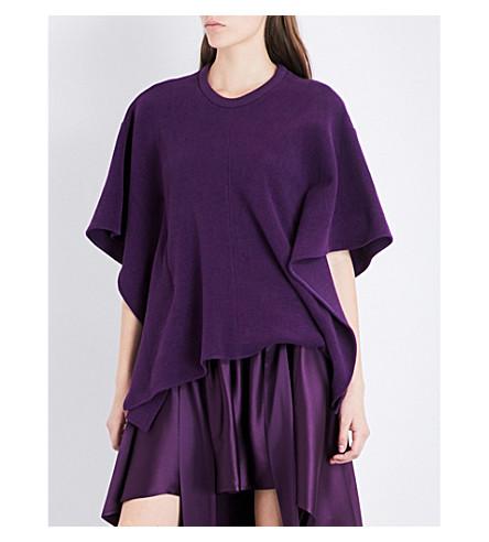 SIES MARJAN Oversized corduroy cotton-blend cape (Plum