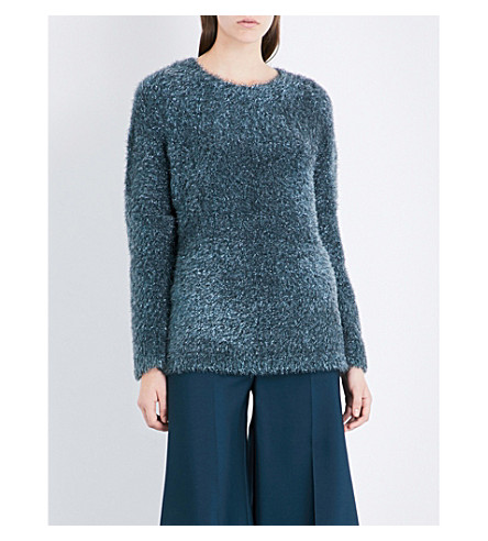SIES MARJAN Courtney oversized knitted jumper (Dark+petrol