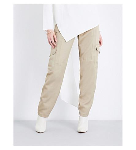 SIES MARJAN Hazel straight twill cargo trousers (Sand