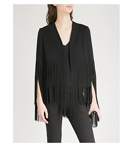 GALVAN Cortado fringed satin jacket (Black