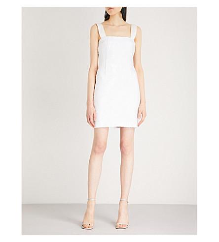 GALVAN Salar sequinned mini dress (White