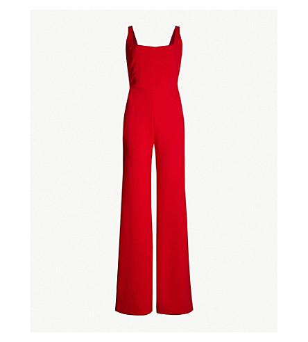 GALVAN Sunrise wide-leg crepe jumpsuit (Red