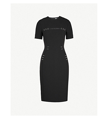 MUGLER Embellished crepe dress (Black