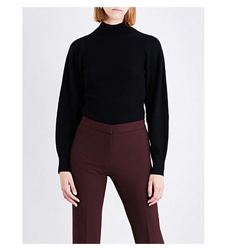 MUGLER High-neck cashmere top (Black