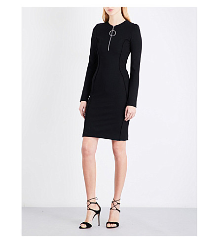 MUGLER Bodycon cutout jersey mini dress (Black