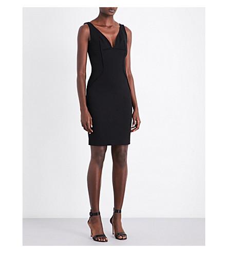 MUGLER V-neck sleeveless stretch-jersey dress (Black