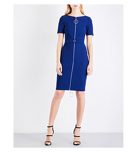 MUGLER Bodycon cutout jersey mini dress (Dark+sapphire