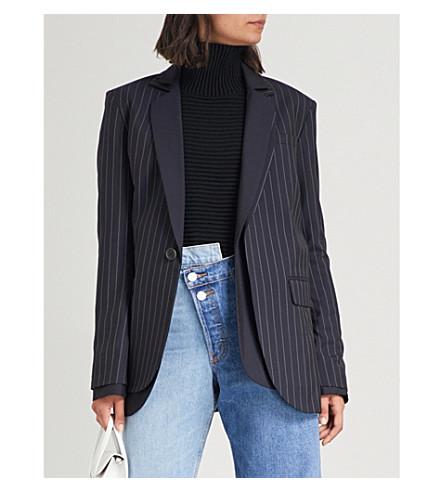 MONSE Pinstripe wool suit jacket (Navy