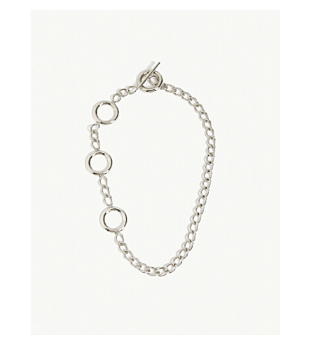 MONSE Hoop and chain necklace (Silver