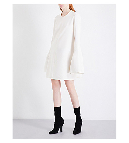 ELLERY Preacher crepe mini dress (White