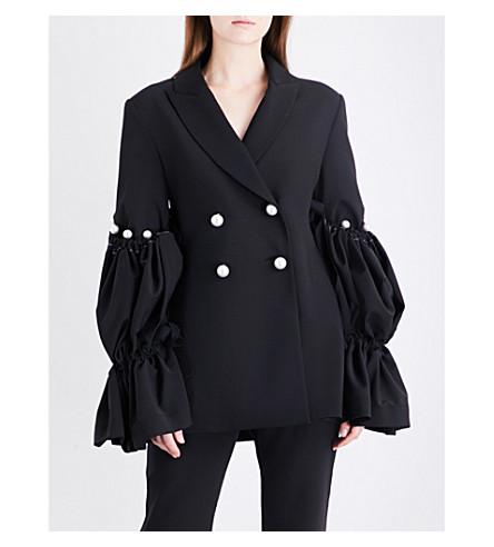 ELLERY Double-breasted crepe jacket (Black