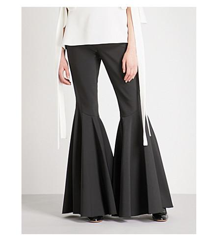 ELLERY Jacuzzi flared crepe trousers (Black