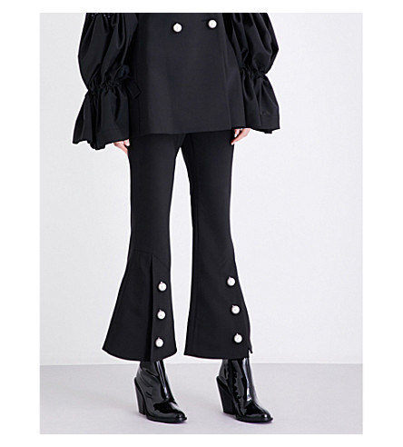ELLERY Fourth Element kick-flare crepe trousers (Black