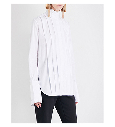 ELLERY Baby ruffled-sleeve cotton top (White