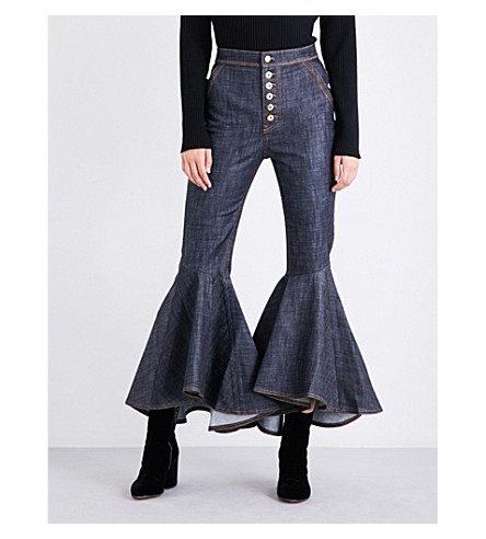 ELLERY Hysteria bootcut high-rise jeans (Navy