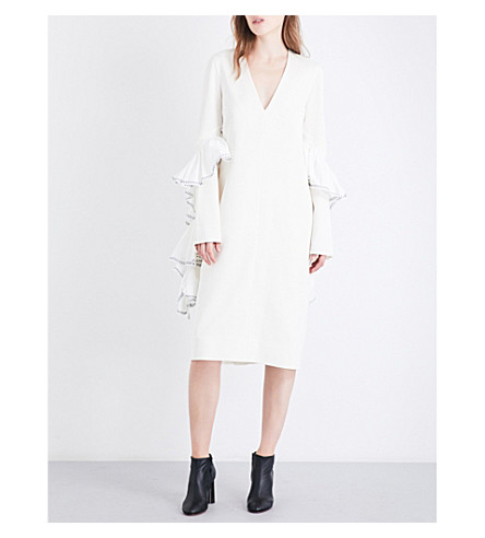 ELLERY Molotov crepe dress (Ivory/white