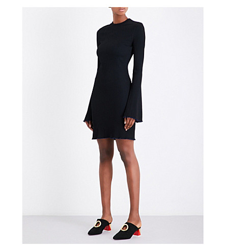 ELLERY Sunshine Kid ribbed-knit mini dress (Black