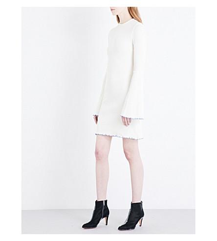 ELLERY Sunshine Kid ribbed-knit mini dress (Ivory