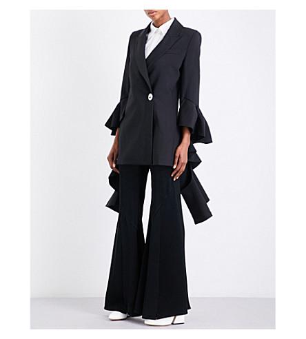 ELLERY Forsaken double-breasted crepe jacket (Black