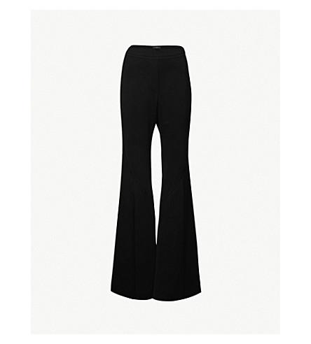 ELLERY Higher Higher flared crepe trousers (Black