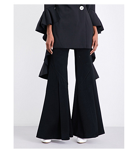 ELLERY Higher Higher flared crepe trousers (Black