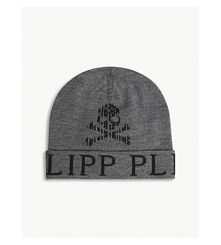 PHILIPP PLEIN Terence wool-blend hat (Grey