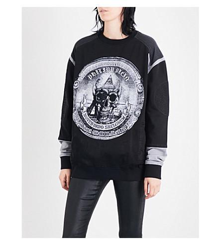 PHILIPP PLEIN Cashflow King stretch-cotton sweatshirt (Black