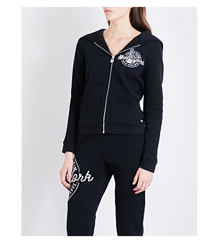 PHILIPP PLEIN New York cotton-blend hoody (Black