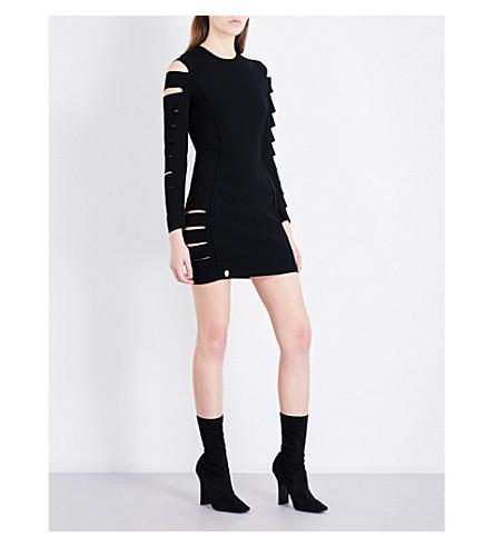 PHILIPP PLEIN Slashed knitted dress (Black