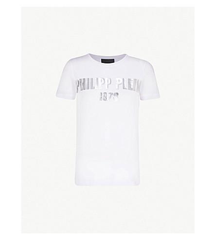 PHILIPP PLEIN Ego cotton-jersey T-shirt (White