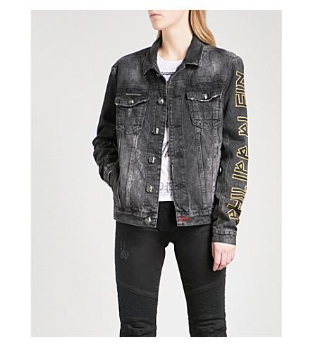 PHILIPP PLEIN Distressed denim jacket (Denim