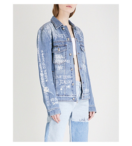 PHILIPP PLEIN Write Me denim jacket (Delphinium