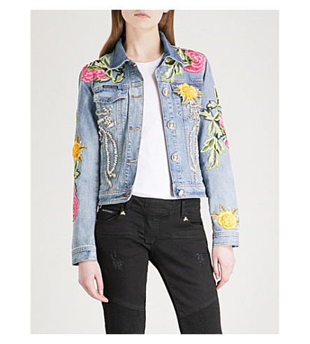 PHILIPP PLEIN Domitille denim jacket (Light+blue