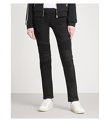PHILIPP PLEIN Palianna slim-fit skinny mid-rise jeans (Black+diamond