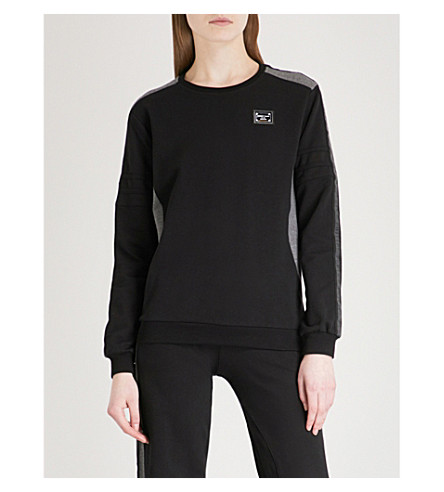 PHILIPP PLEIN Ionna cotton-blend sweatshirt (Black