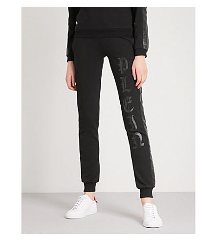 PHILIPP PLEIN Plein cotton-jersey jogging bottoms (Black