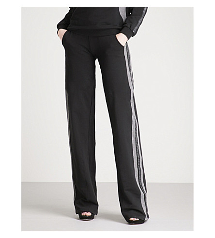 PHILIPP PLEIN Emma relaxed-fit stretch-cotton jogging bottoms (Black