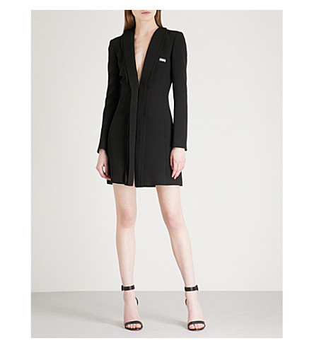 PHILIPP PLEIN Penelope Dark crepe coat (Black