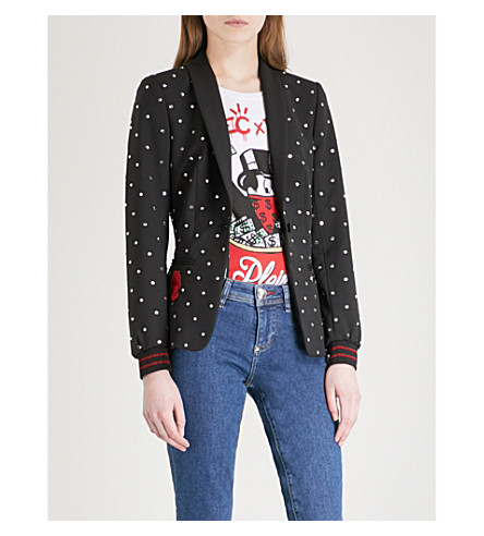 PHILIPP PLEIN Elara Passione crepe jacket (Black