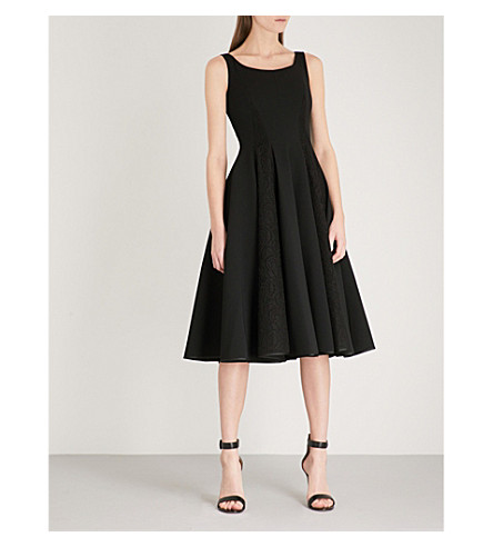 PHILIPP PLEIN Anderson Kelly crepe and lace midi dress (Black