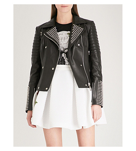 PHILIPP PLEIN Goldie Haley mesh mini skirt (White