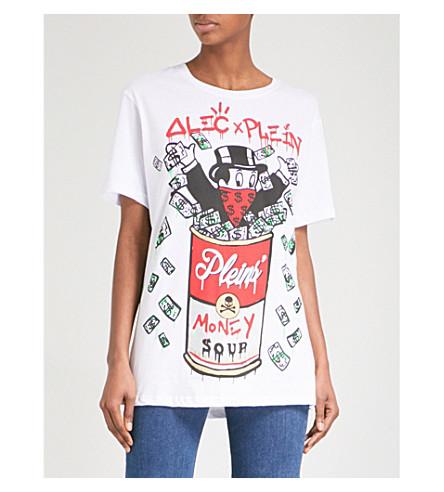 PHILIPP PLEIN Alec's Money cotton-jersey T-shirt (White